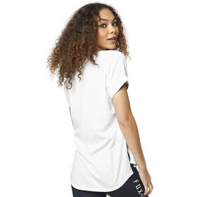 Fox Responded V-Neck Rolled Sleeve SS Shirt Women white/light pink
